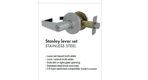 Stanley Lever Set, Stainless Steel
