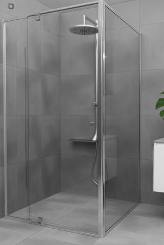 Adjustable  Semi-Frameless Shower Screen - 6 mm glass - Choice of sizes.