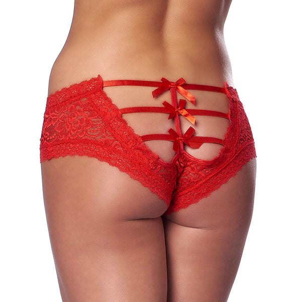 Romantic Red Open Back Briefs