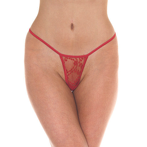 Red Mini Tanga Thong