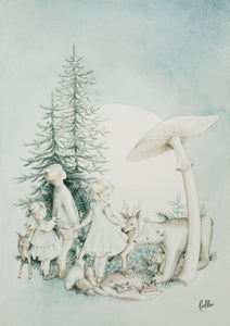 Poster Forest Fairytale - Package with 3 pcs