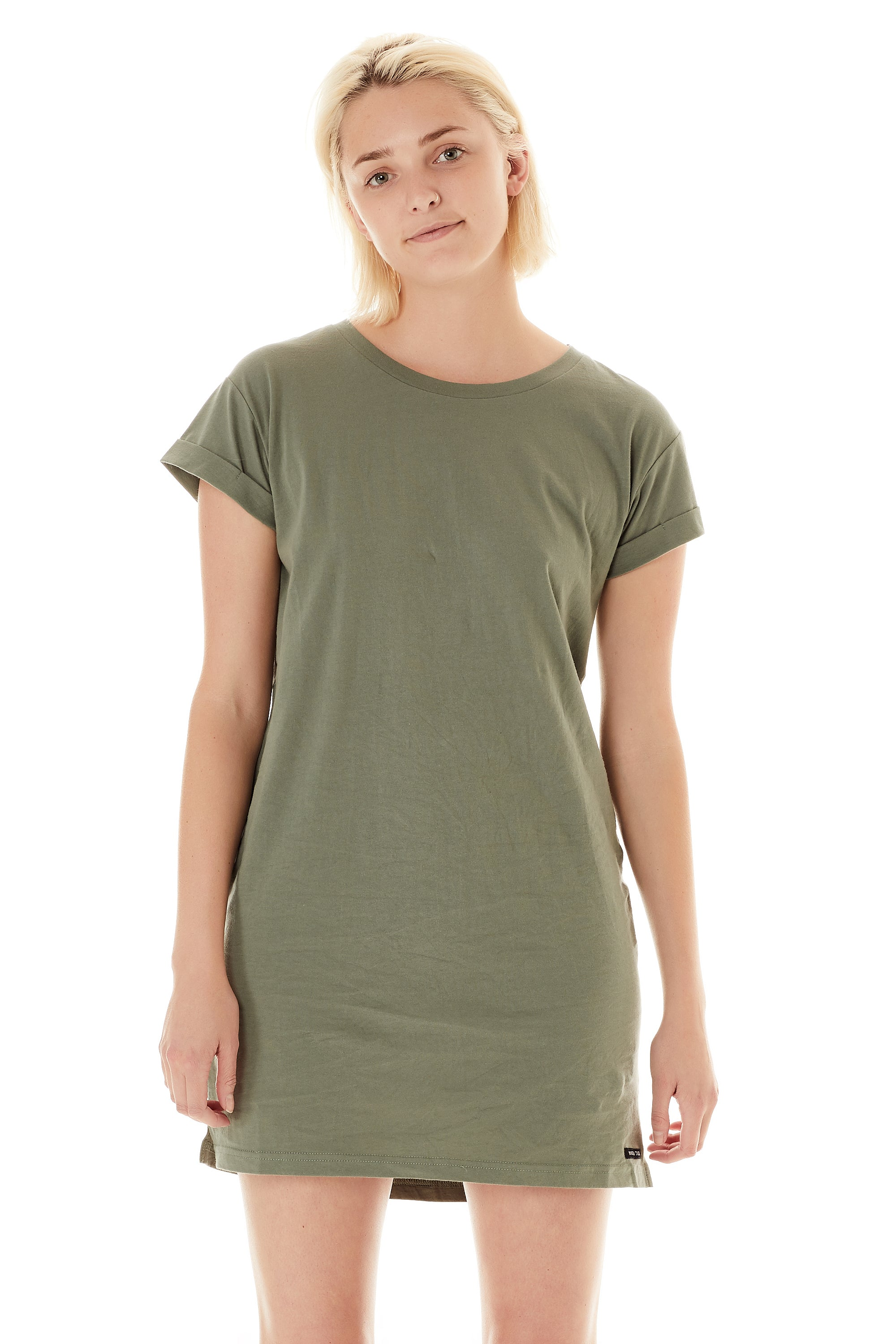 40b8878c07 Womens T-Shirt Dress Military Green