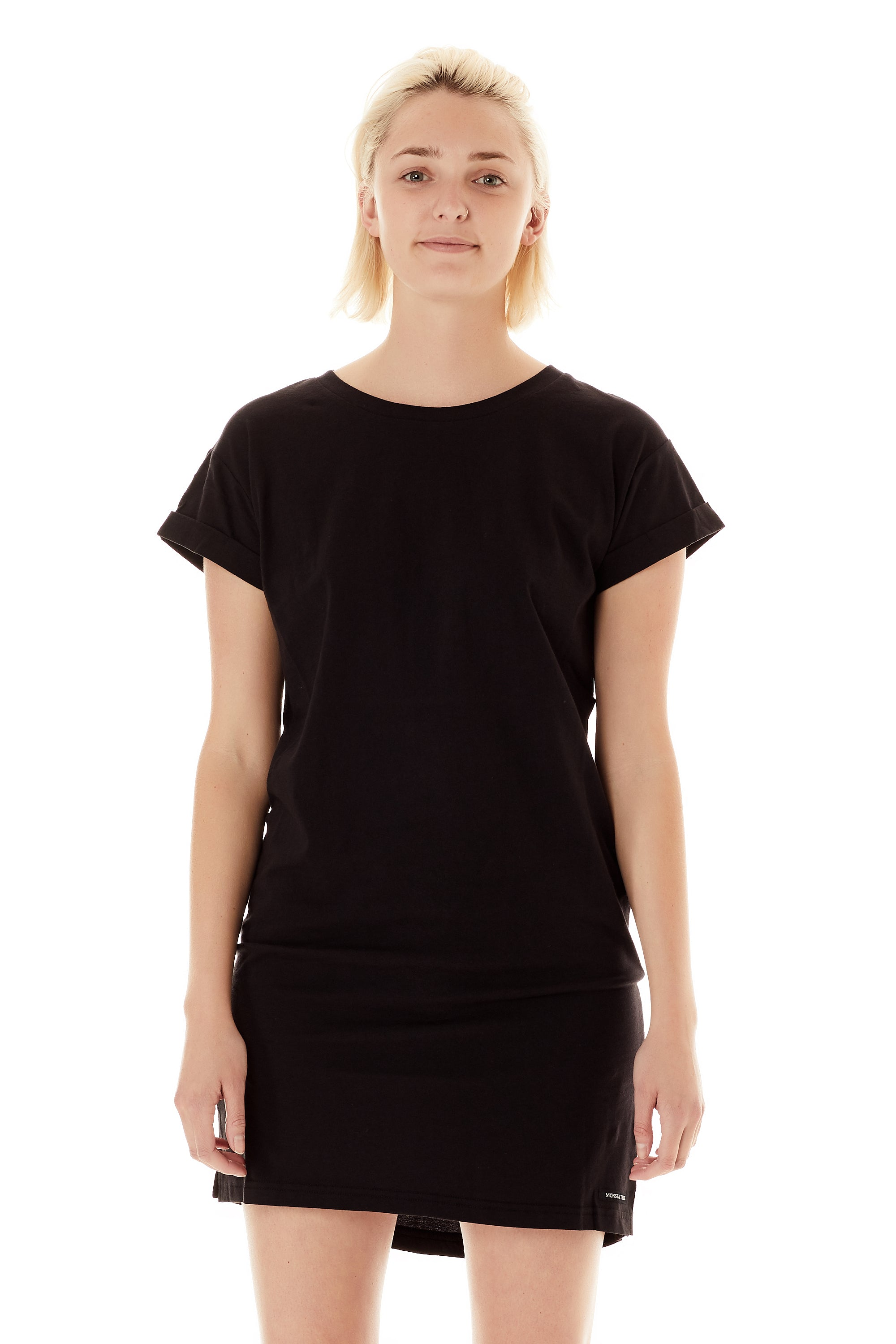 669edad3c Womens T-Shirt Dress Black - Monsta Surf