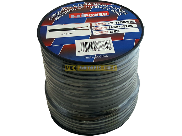 CABLE AWG 16 DOBLE - GOMA [CE-MC-2/16]
