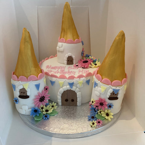 Themed cake for a special occasion (castle cake).