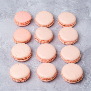 Raspberry Macarons Box of 12