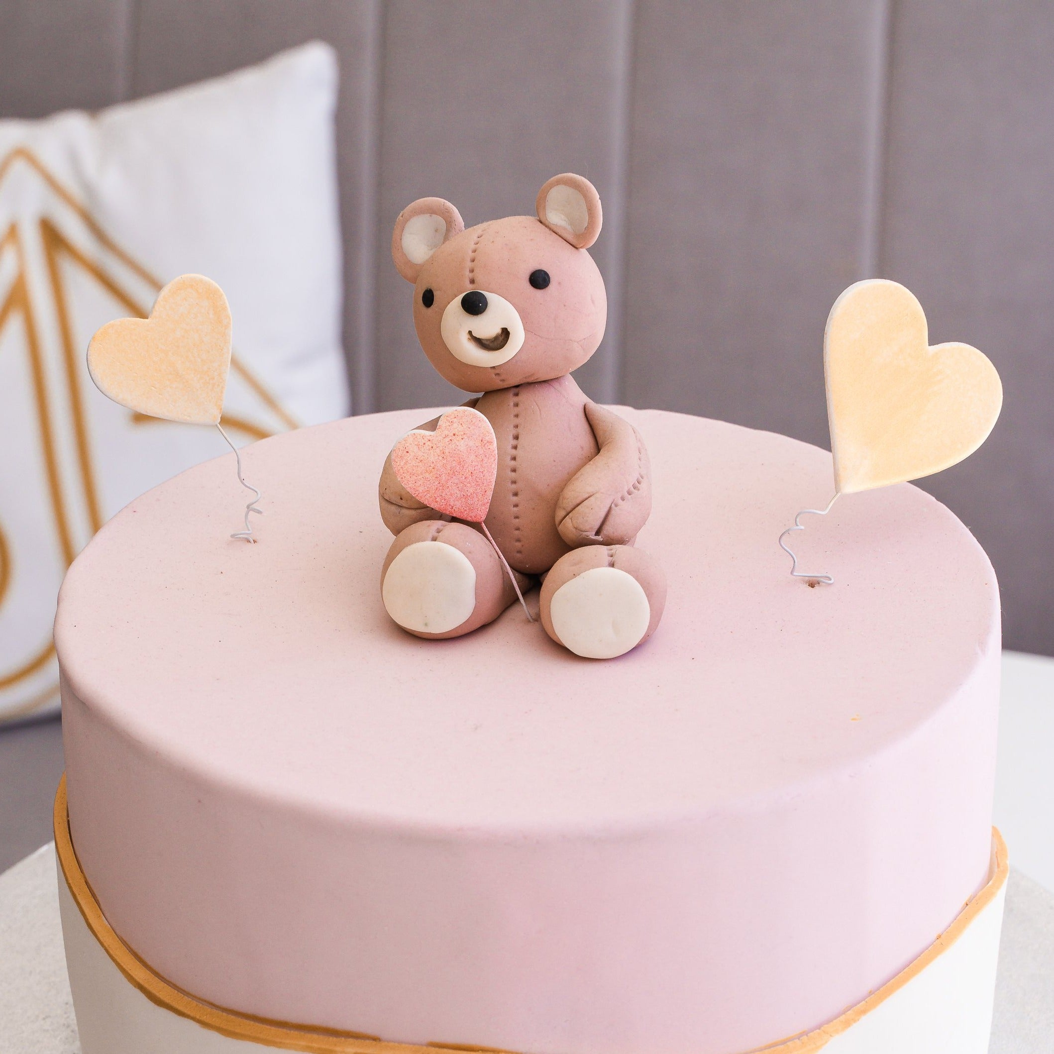 Teddy Bear Heart Cake