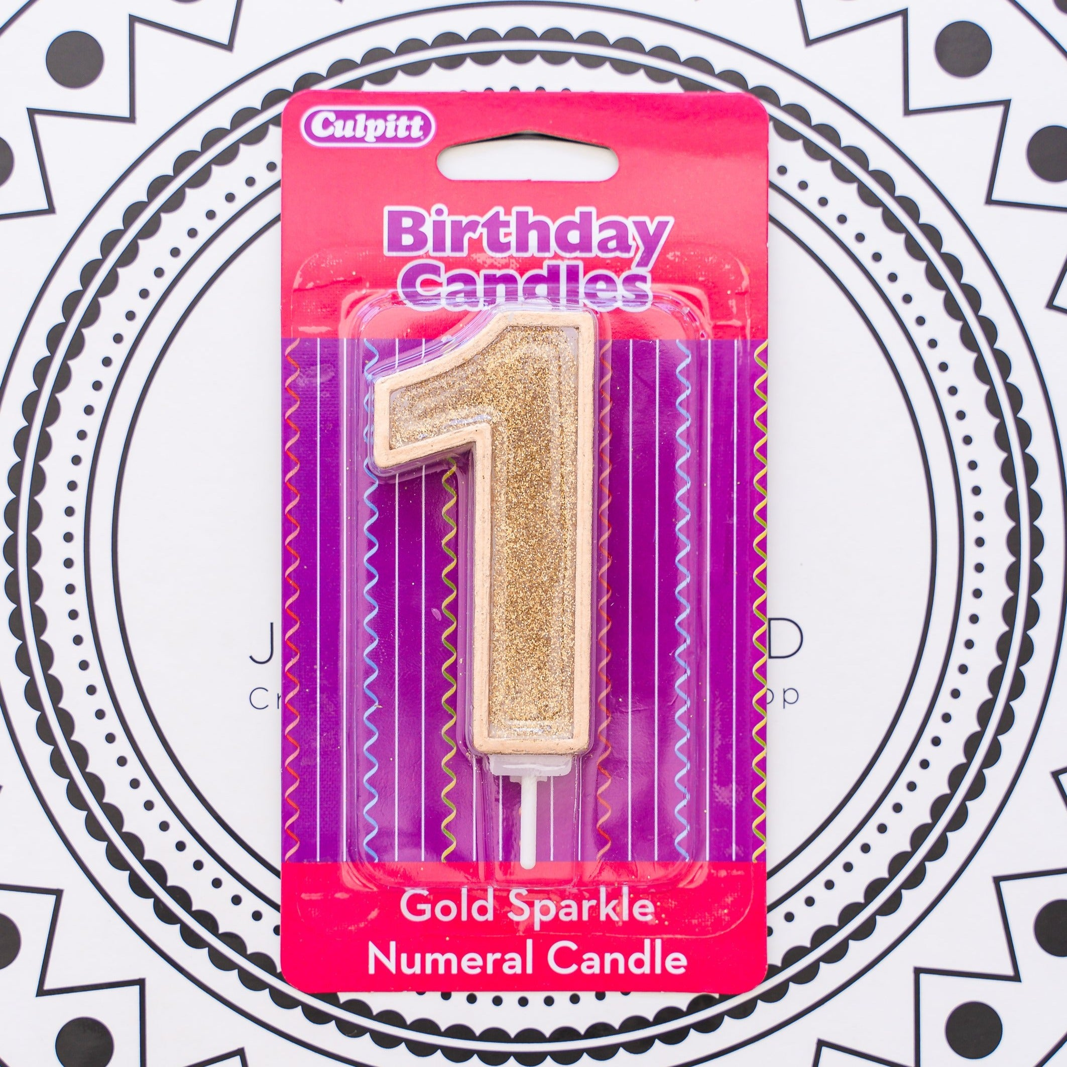 Gold Number Candle - 1