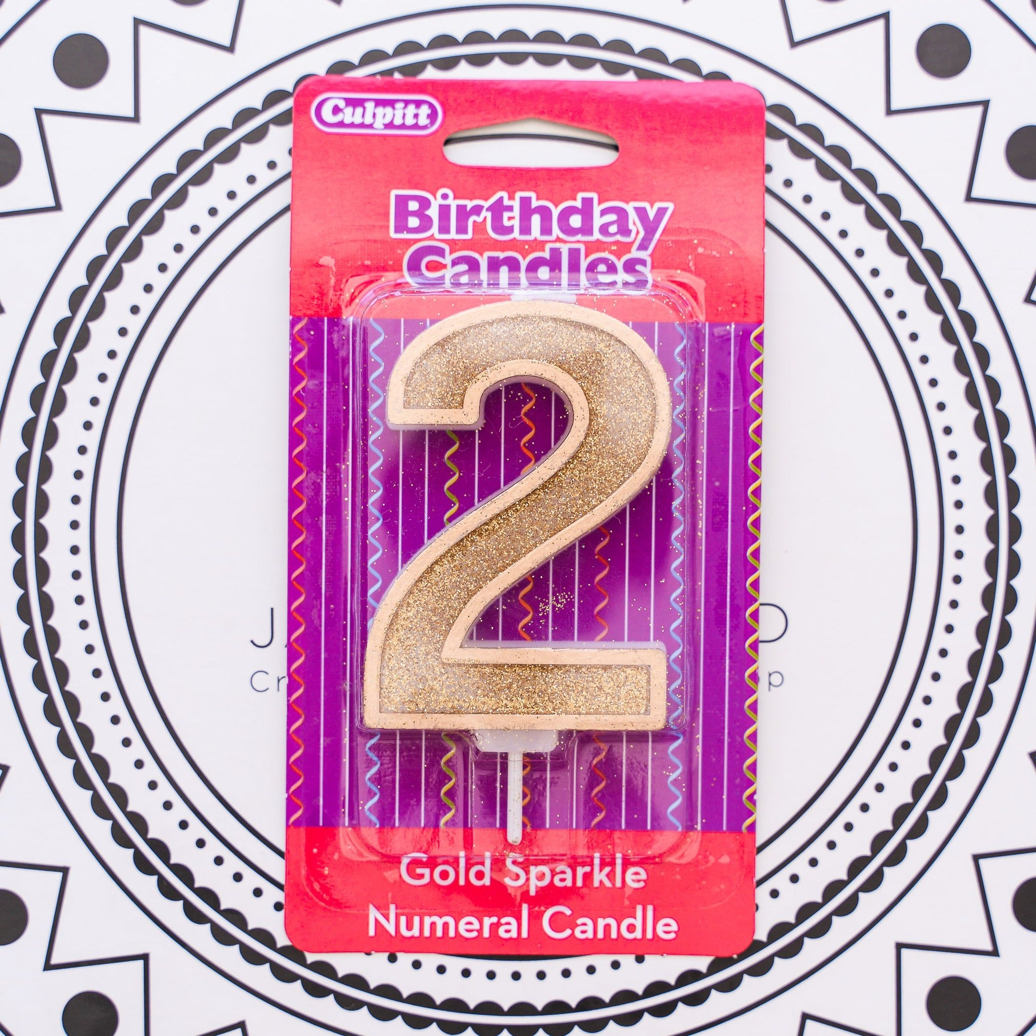 Gold Number Candle - 2