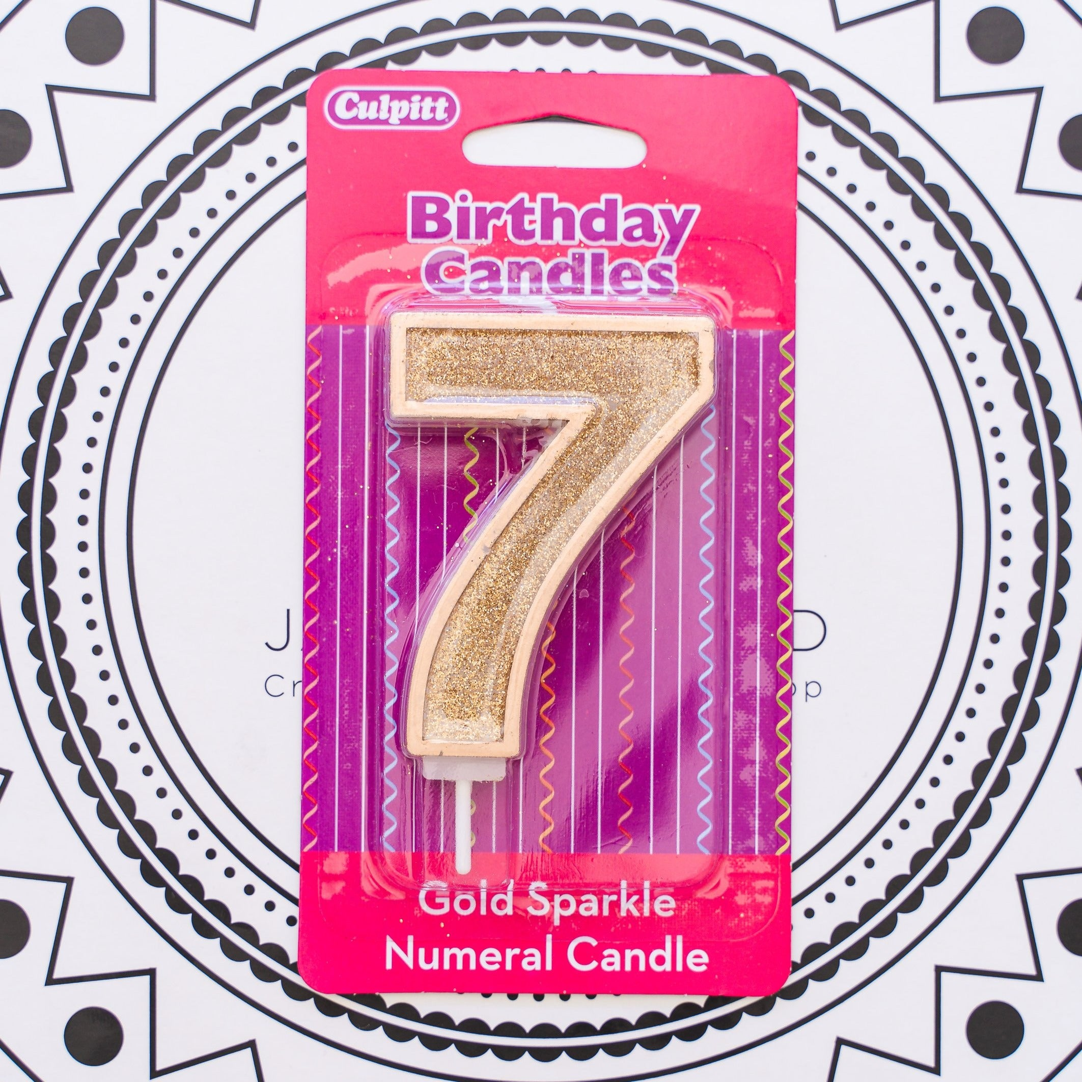 Gold Number Candle - 7