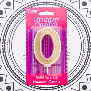 Gold Number Candle - 0
