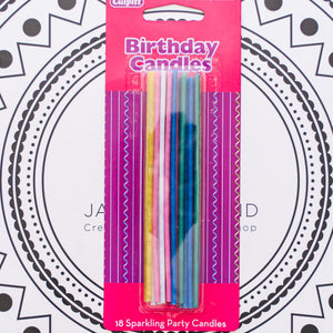Sparkling Party Candles - 18/pack