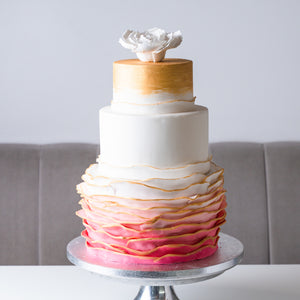 Rose Gold Ombré Cake