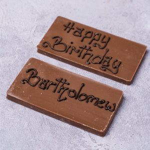 Personalised Mini Chocolate Bar - Milk Chocolate