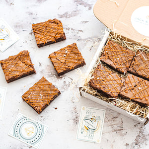 Salted Caramel Brownie Box of 8