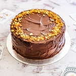 Personalised Vegan Peanut Butter & Chocolate Banana Cake