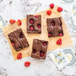 Vegan Chocolate Raspberry Brownie Box of 8