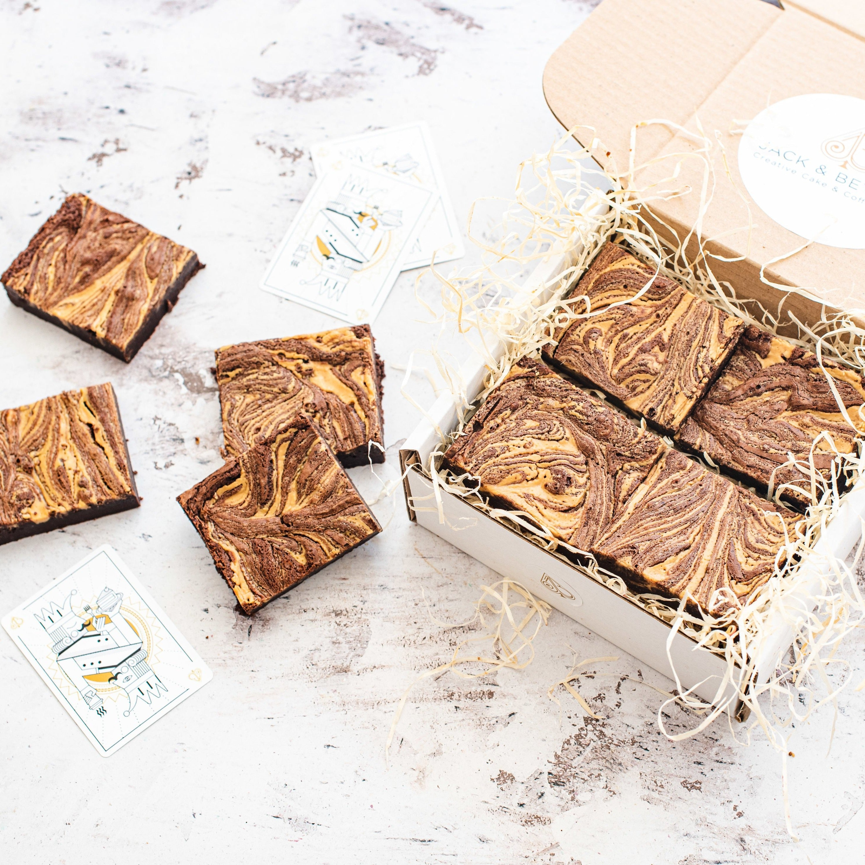Peanut Butter Brownie Box of 8 (Free from Gluten)