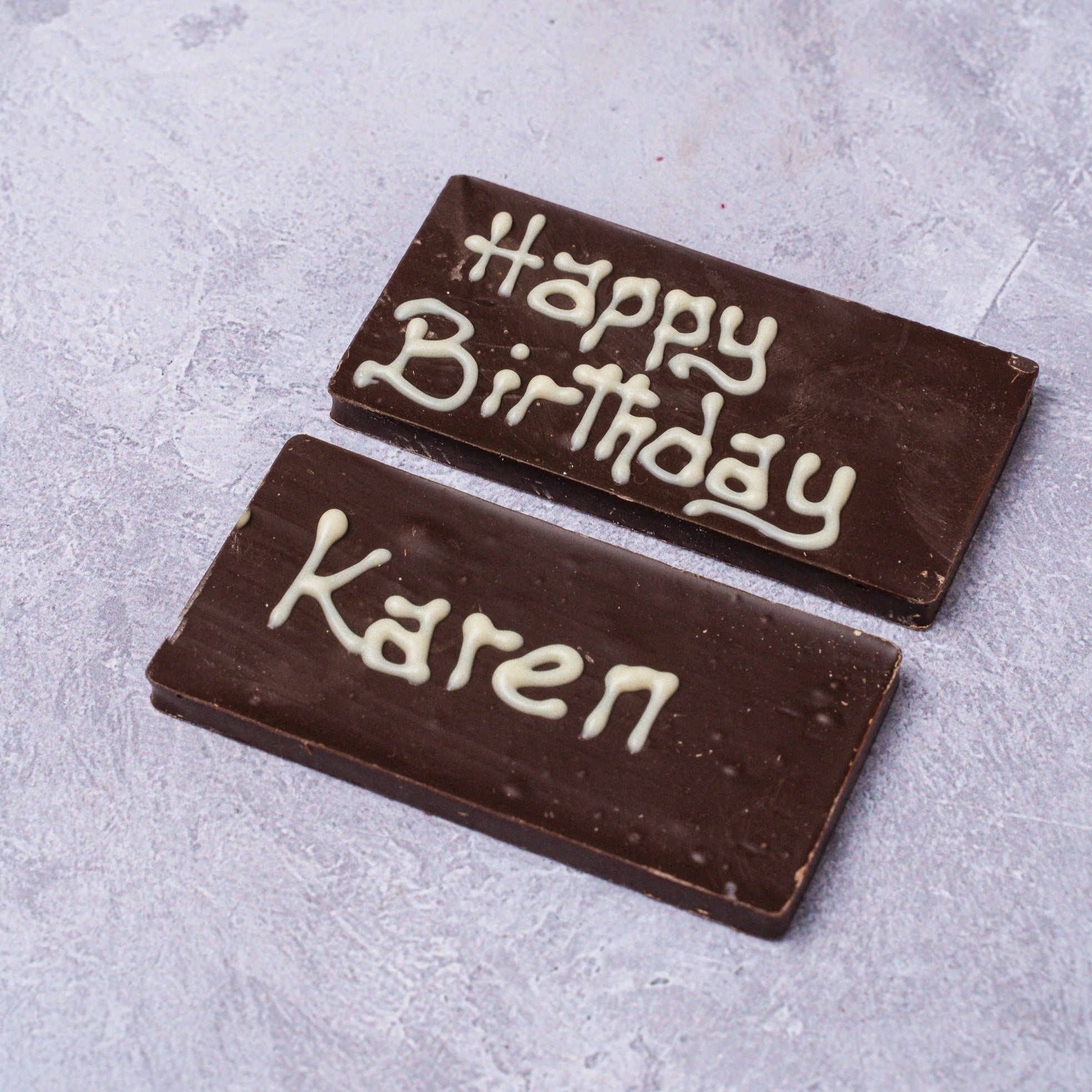 Personalised Mini Chocolate Bar - Dark Chocolate