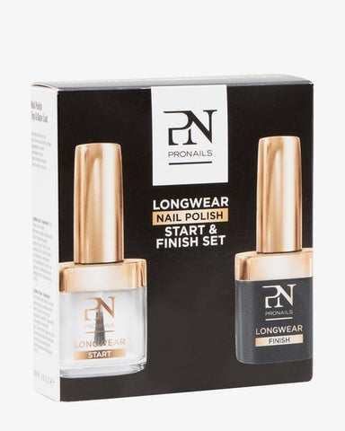 LONGWEAR NAIL POLISH START & FINISH SET.