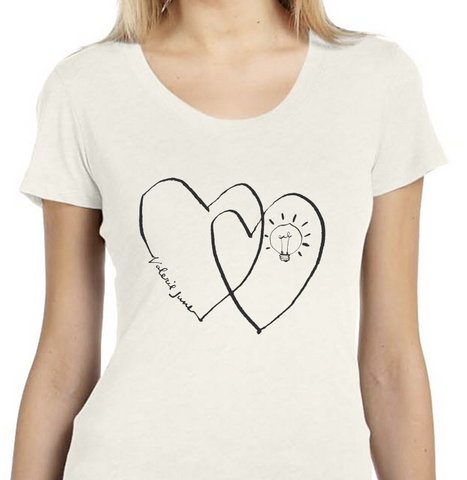 Ladies Short Sleeve Two-Hearts T-Shirt