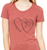Red Short Sleeve Two-Hearts T-Shirt
