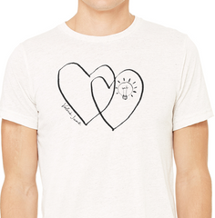 Men's Short Sleeve Two-Hearts T-Shirt