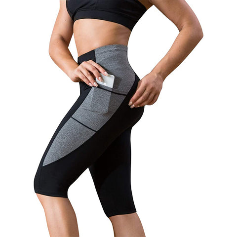 LANCS Contrasting Color Running Yoga Short Pants