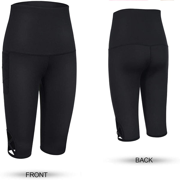 LANCS  High Waist Compression Hellow Design Yoga Pants