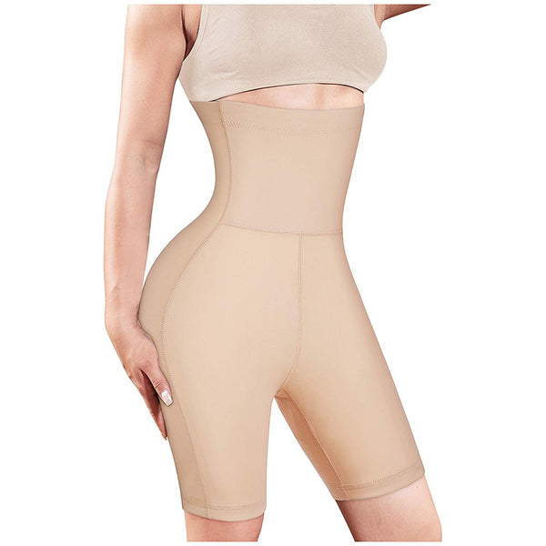 Smooth High Waist Slip Butt Lifter Shorts