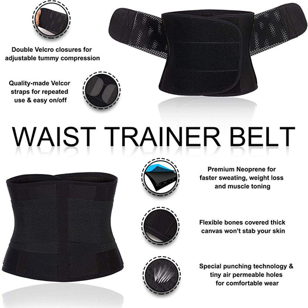 Women Neoprene Sauna Sweat Waist Trainer with  Band