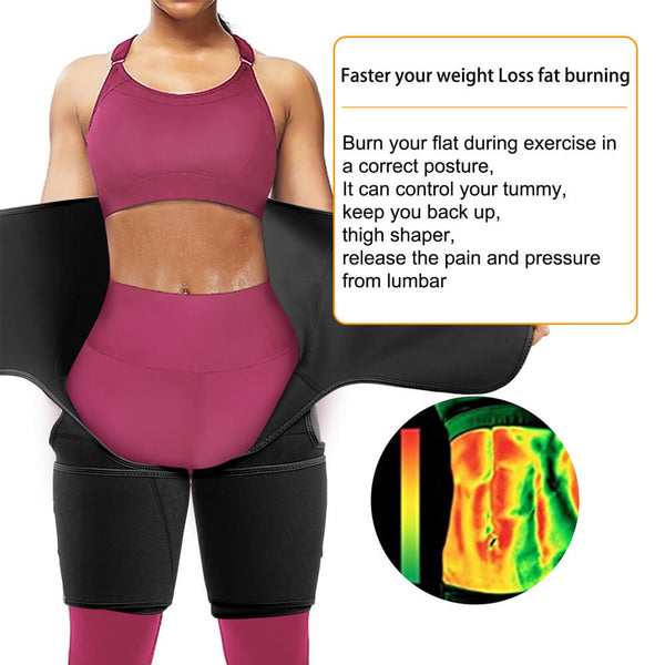 LANCS Waist Trainer and Thighs Trimmer Bands