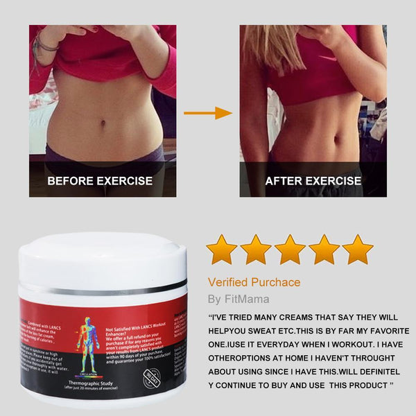 Upgraded Hot Cream Fat Burner Sweating more