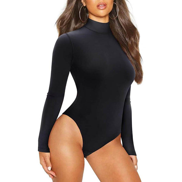 A sexy lady wearing Lancs Scoop Neck Black Bodysuit Outfits