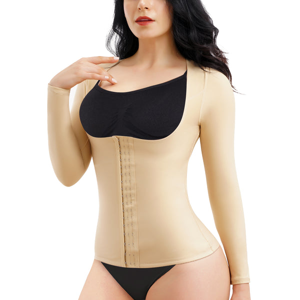 Tummy Control Shaper Arm Compression Stomach Slimming Tops