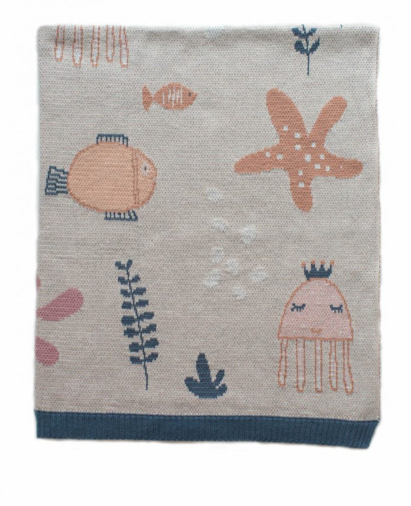 BABY BLANKET UNDER THE SEA PINK BLANKET