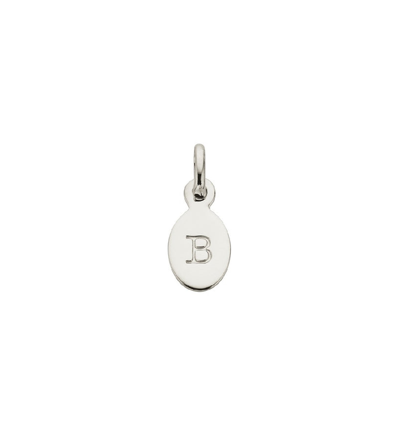 CHARM B OVAL LETTER STERLING SILVER