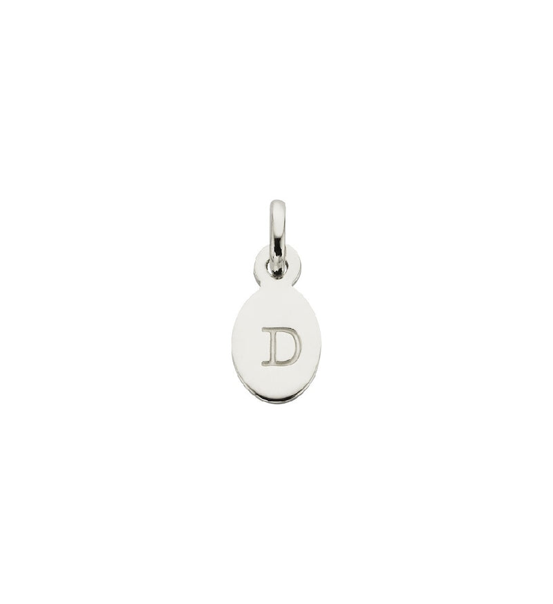 CHARM D OVAL LETTER STERLING SILVER