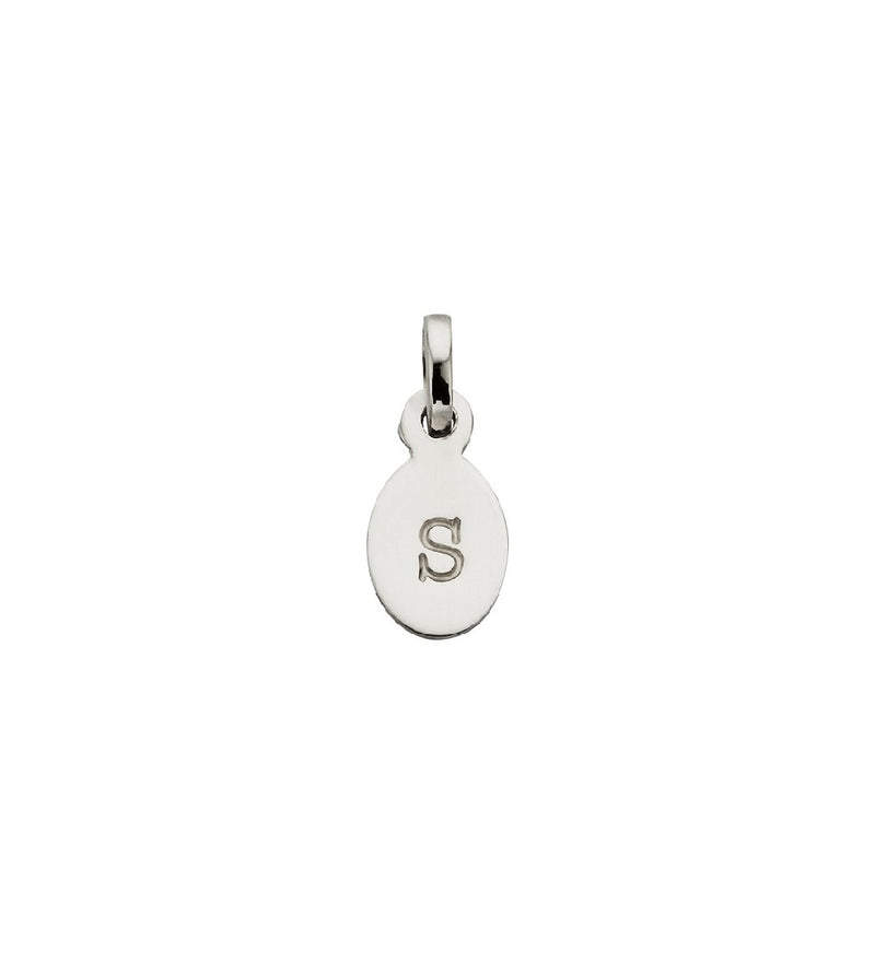 CHARM S OVAL LETTER STERLING SILVER
