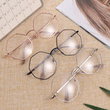 New Fashion Eyeglasses Hexagon Frame Reading Glasses Eyewear Men and Women - SunglassesTrendz