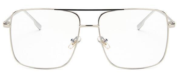 Fashion square frame vintage eyeglasses Oversized Frame For Men And Women -
