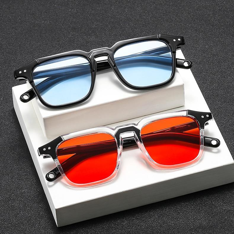 New Fashion Square Style Tint Ocean Lens Vintage Sunglasses For Men Women