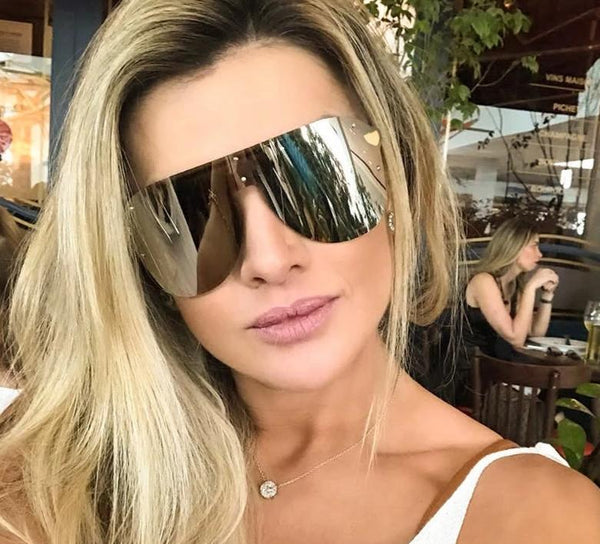 Stylish Rim Less Mirror Sunglasses For Women-SunglassesTrendz