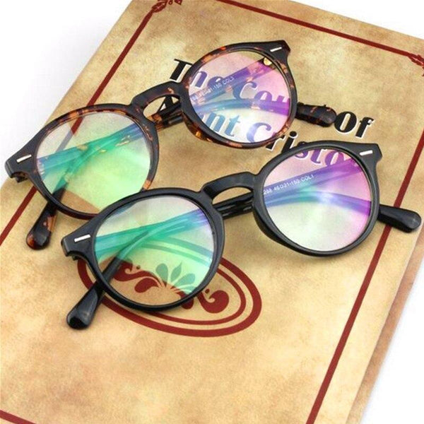 Vintage Retro Round Eyeglasses Frame For Men Women - SunglassesTrendz