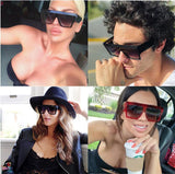 Classic Oversized Vintage Square Sunglasses For Men And Women-SunglassesTrendz