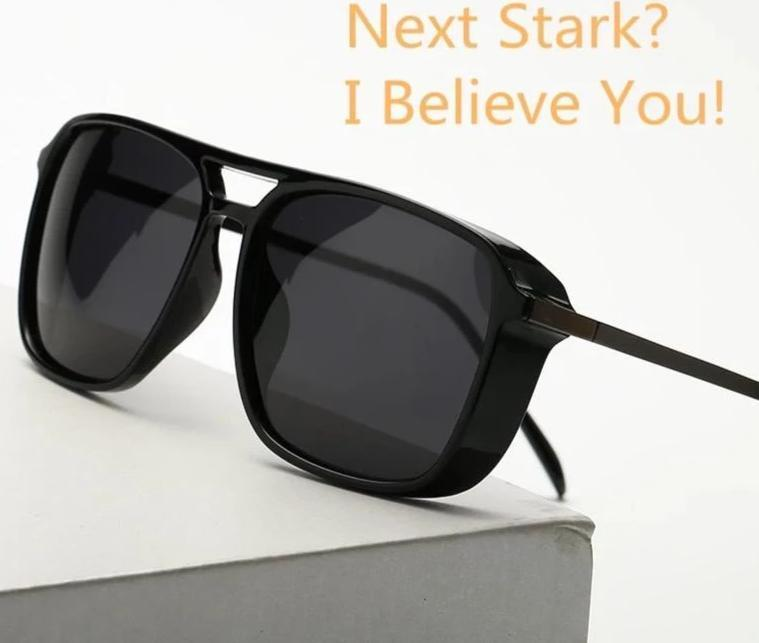 Tony Stark Polarized Square Sunglasses For Men And Women-SunglassesTrendz