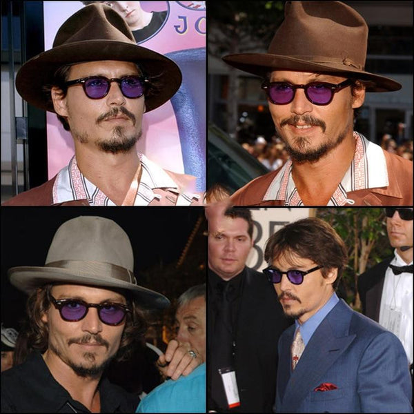 Johnny Depp Oval Sunglasses For Men -SunglassesTrendz