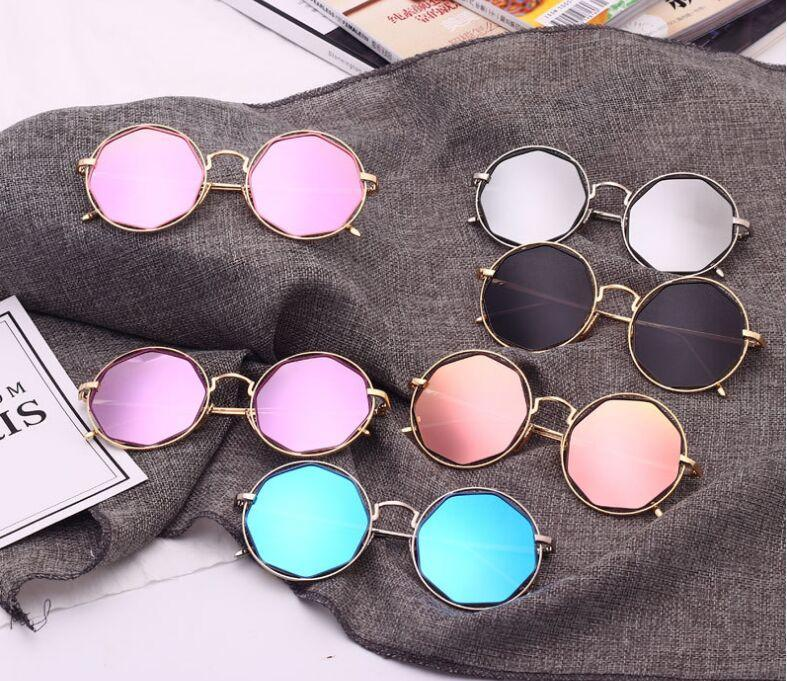 New Stylish Mirror Round Sunglasses For Women-SunglassesTrendz