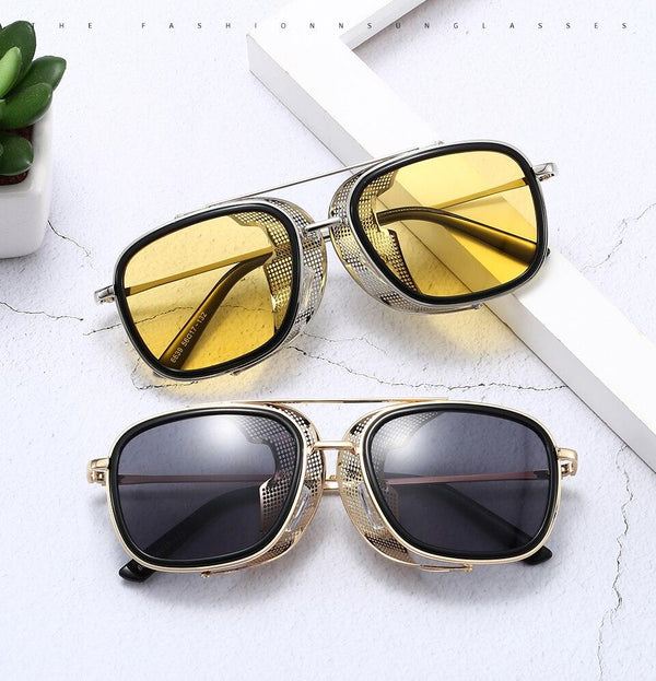 New Stylish Square Side Flip Up Shades Sunglasses Frame For Men - SunglassesTrendz