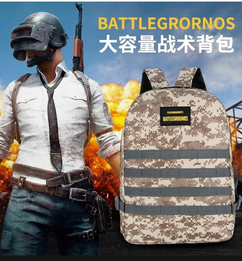 Stylish PUBG BATTLEGROUND Camouflage Shoulder Large Capacity Bag Travel Bag - SunglassesTrendz